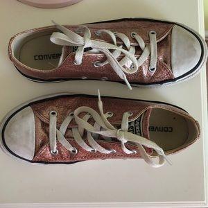 Children's Pink Sparkly Converse